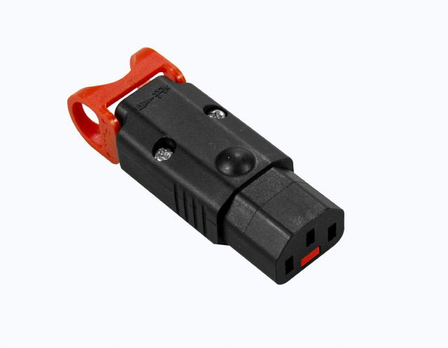 IEC LOCK+ The World's First Locking Rewireable IEC320-C13 Connector