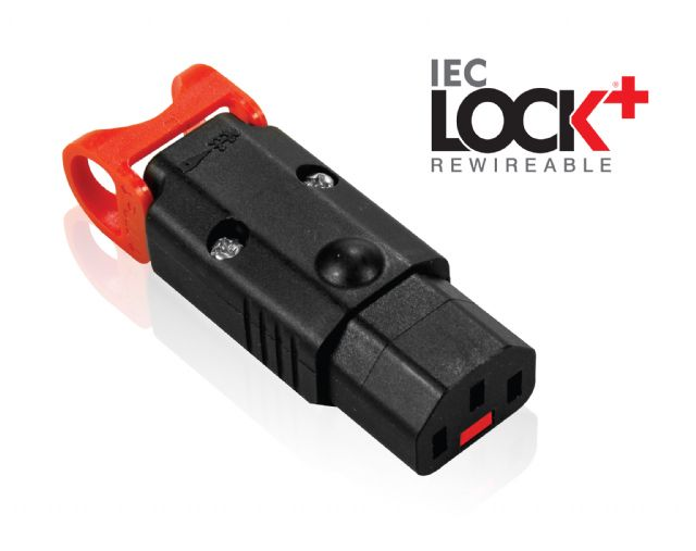 "IEC LOCK+ ""The World's First Locking Rewireable IEC320-C13 Connector"""