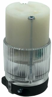 Lighted NEMA 5-15R User Attachable Replacement Connector