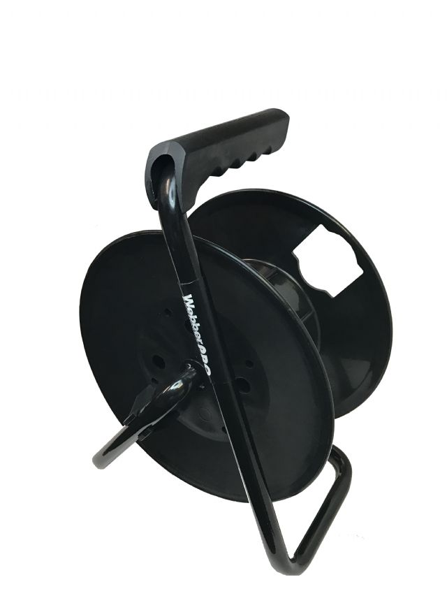 Webber Pro-Series Cord Reel, Heavy Duty Metal Framed Cord Reel Holds Up to 100 FT of 12AWG Cable