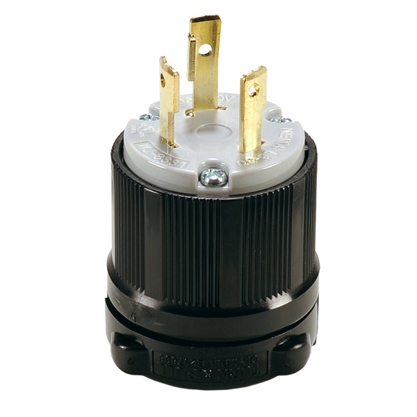 TWIST-LOCK NEMA L6-30P User Attachable Replacement Plug